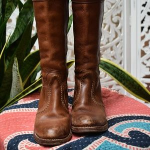 Vintage Frye western style boots, size 6.5